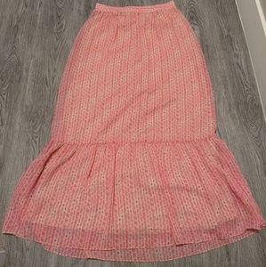 Pink/Tan Maxi Skirt